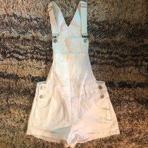 White suspender shorts